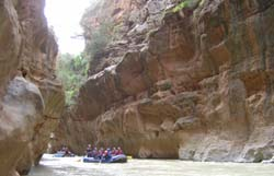 Rafting the Ahansal River, Morocco