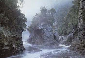 Rock Island Bend on the Franklin River, Tasmania