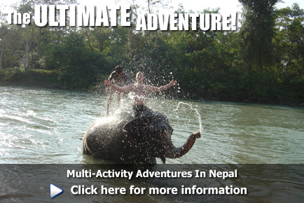 Multi-activity adventures in Nepal, click here for more information