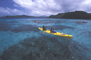 Kayaking around Kadavu island