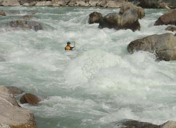 Brilliant white water on the Tamur